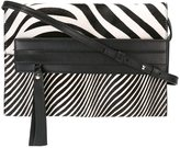 Elena Ghisellini zebra print shoulder bag - women - Calf Leather/Calf Hair - One Size