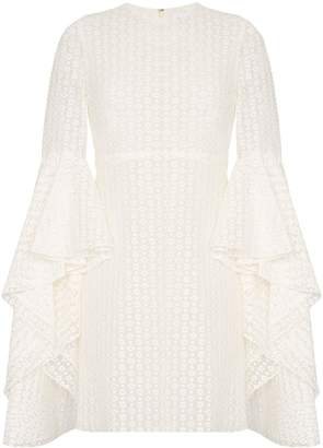 Giambattista Valli ruffle-sleeve lace mini dress