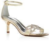 Caparros Cabaret Metallic Rhinestone-Embellished Sandals