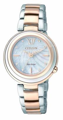 Citizen Womens Analogue Quartz Watch with Stainless Steel Strap EM0335-51D