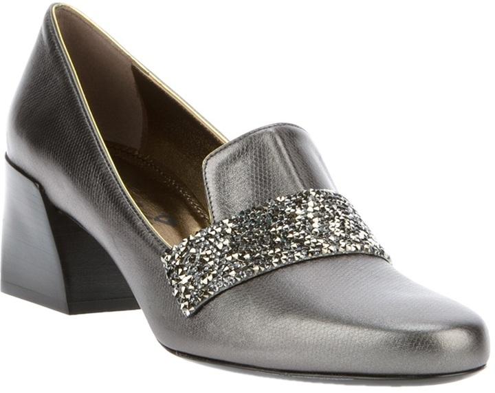 Lanvin Block heeled loafer