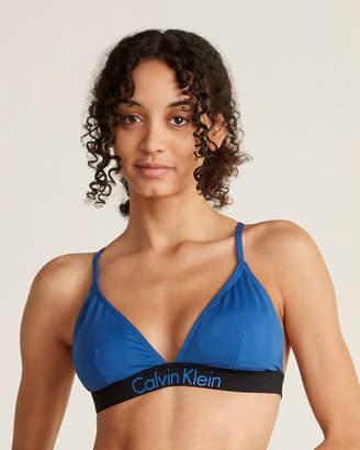 Calvin Klein Logo Band Crisscross Back Bikini Top