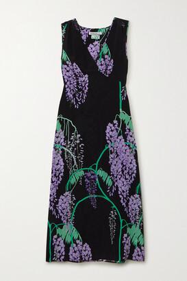 BERNADETTE Sarah Floral-print Silk Crepe De Chine Midi Dress