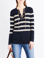 MICHAEL Michael Kors Lace-up striped knitted jumper