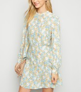 New Look Floral Long Cuffed Sleeve Mini Dress