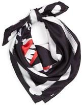 Moschino Women's Skull Silk Scarf