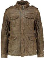 Pepe Jeans Trooper Leather Jacket 728olive