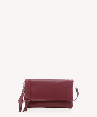 Sole Society Women's Marlena Clutch Vegan Foldover Clutch Oxblood Vegan Leather From