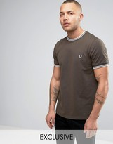 Fred Perry Twin Tipped T-Shirt Exclusive in Green