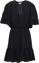 Joie Tersea Gathered Crepe Mini Dress
