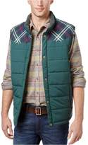 Weatherproof Mens Vintage Pieced Plaid Puffer Vest L