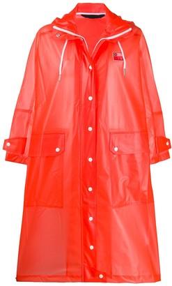 Diesel oversized TPU raincoat