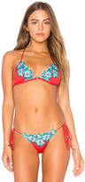 Blue Life Boho Halter Top in Red. - size L (also in M,S,XS)