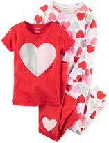 Carter's 4-Pc. Hearts Pajama Set, Little Girls (2-6X) & Big Girls (7-16)