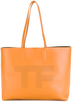 Tom Ford perforated logo tote bag - women - Calf Leather/Polyamide/Polyurethane - One Size