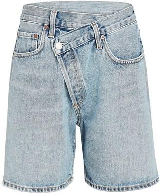 A Gold E Criss Cross Upsized Denim Shorts