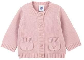 Petit Bateau 64768300 Girls' Cardigan - Pink - 3-6 Months