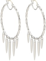 Stephen Webster Verne Bone Hoop Earrings with Hanging Daggers