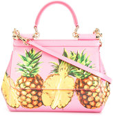 Dolce & Gabbana pineapple print Sicily shoulder bag - women - Calf Leather - One Size