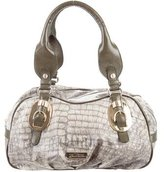 Galliano Newspaper Print Shoulder Bag