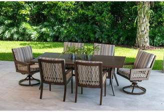 Eddie Bauer Echo Bay 7 Piece Dining Set with Sunbrella Cushions