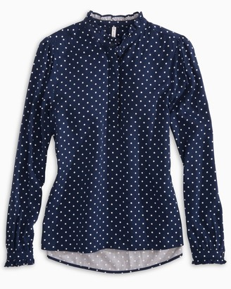 Southern Tide Leslie Polka Dot Top