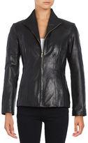 Cole Haan Long-Sleeve Wing-Collar Jacket