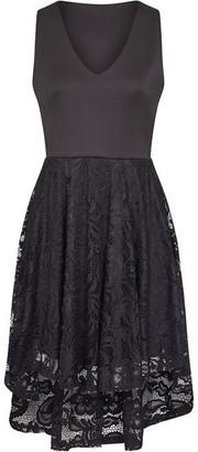 Yumi Lace Asymmetric Dress