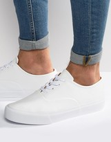 Asos Oxford Lace Up Sneakers in White