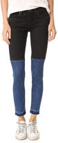 Blank Two Tone Raw Hem Jeans