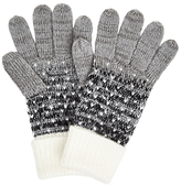 John Lewis Obmre Dotty Gloves, Grey