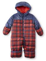 Carter's Infant Boy Red Plaid Quilted Snowsuit Baby Pram Snow Suit 12m
