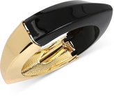 INC International Concepts Gold-Tone and Jet Colorblock Hinged Bangle Bracelet, Only at Macy's