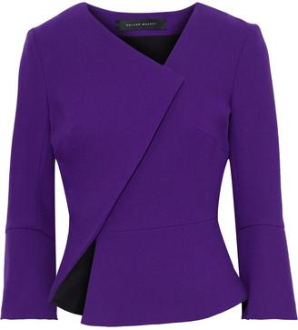 Roland Mouret Kirkham Asymmetric Wool-crepe Jacket