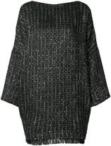 Talbot Runhof boxy fit tweed dress