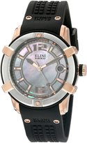 Elini Barokas Women's 'Spirit' Swiss Quartz Stainless Steel and Silicone Automatic Watch, (Model: 20005-RG-02-SRB)