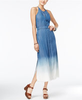 American Rag Dip-Dyed Denim Maxi Dress, Only at Macy's