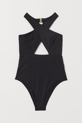 H&M High Leg Swimsuit - Black