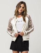 Ashley Sateen Colorblock Womens Bomber Jacket