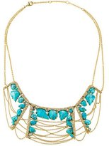 Alexis Bittar Crystal & Turquoise Collar Necklace