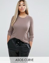 Asos Top with Slouchy Rib and Drape Back
