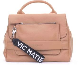 Vic Matié Uma Tan Satchel Bag