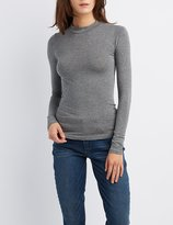 Charlotte Russe Mock Neck Fitted Top