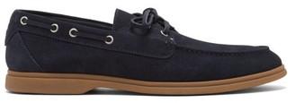 Brunello Cucinelli Suede Deck Shoes - Navy