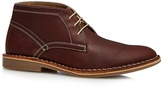 Red Herring Brown Leather Desert Boots