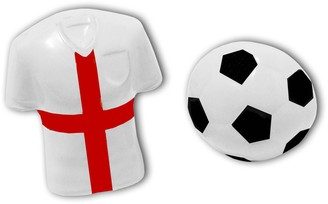 3D White St George's Cross Football Shirt and Football Cufflinks