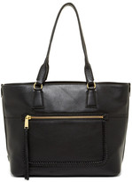 Cole Haan Celia Leather Medium Zip Top Tote