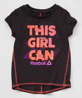 Reebok Black 'This Girl Can' Hi-Low Tee - Girls