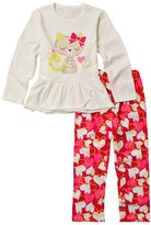 Perfashion Kids Girls' Cat Pattern Cotton Sleepwear Set Pajamas Sets Nightwear Outfit 100