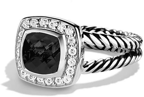 David Yurman Petite Albion Ring with Black Onyx & Diamonds